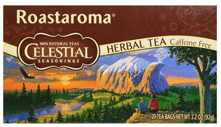 a box of Celestial Seasonings Roastaroma herbal tea