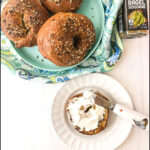 everything keto bagel made in the air fryer and text